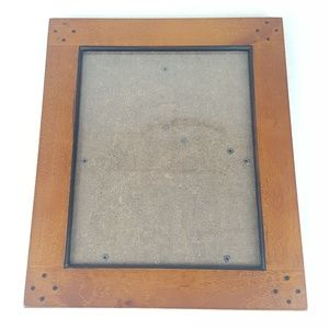 FINAL $$$ Wooden Picture Frame w/ Glass 11 x 13